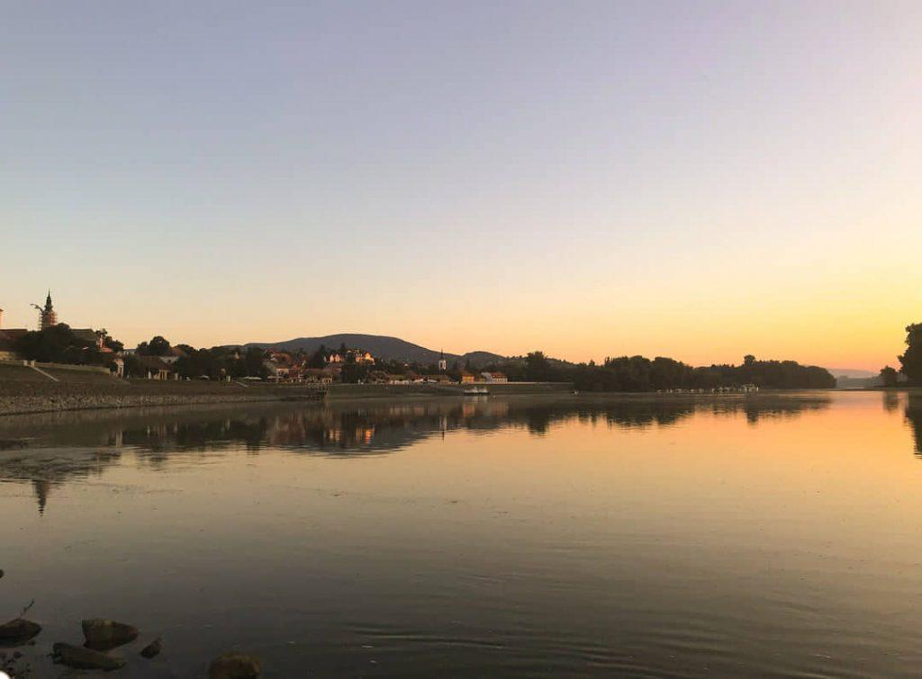 Az utolsó pillanat amikor még evezhetünk, naplemente Szentendrénél